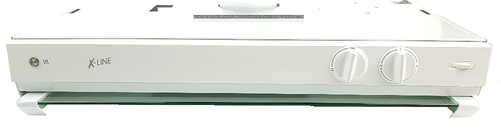 Frontpanel i hvit for Vallox 70K Compact m/hull for indikatorlam