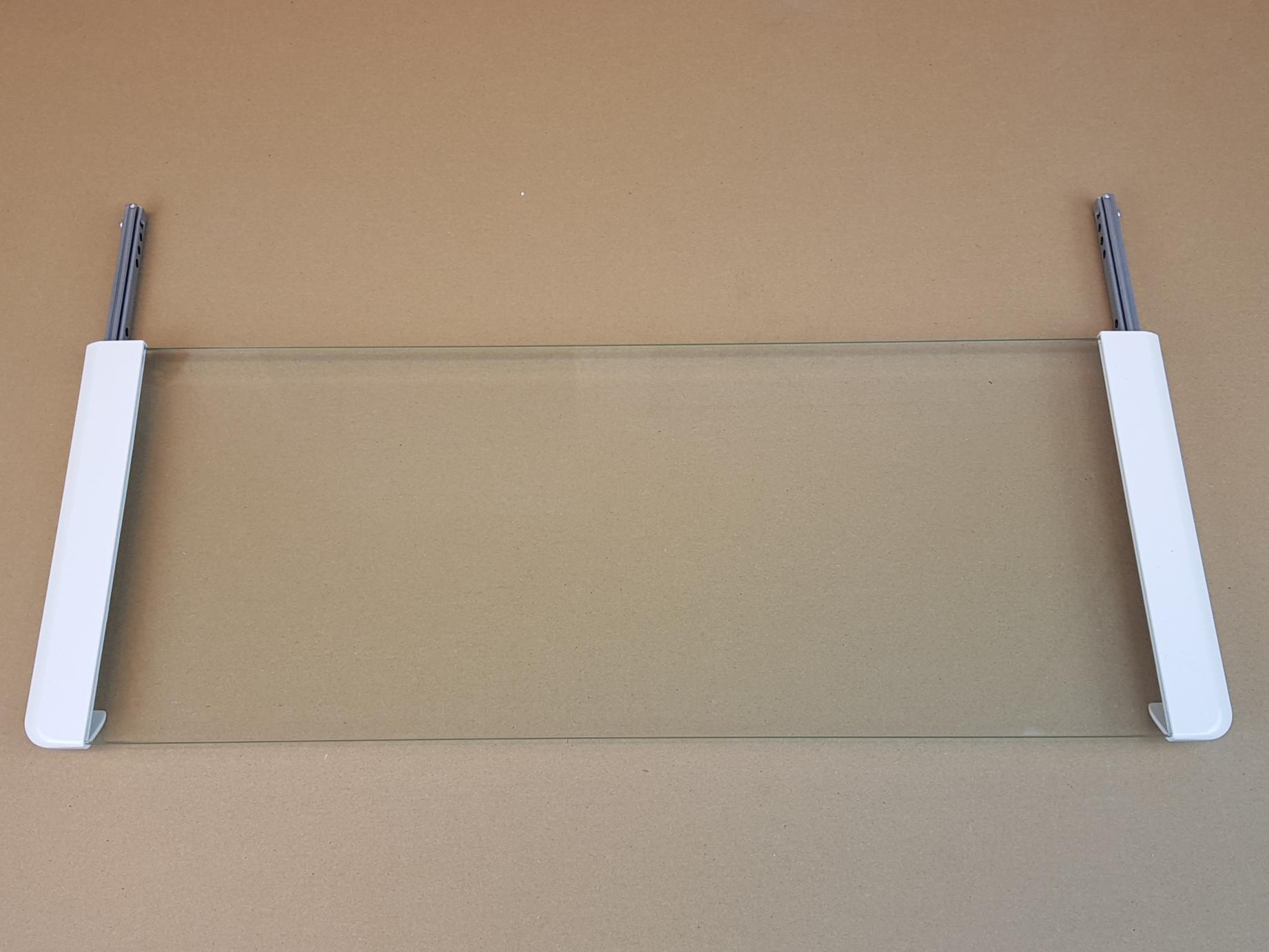 Glass 60 cm med skinner for Vallox Slim-Line- Hvit