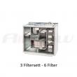 3 stk Filtersett Ensy AHU 400