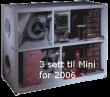 3 stk filtersett Genvex GE MINI - Posefilter (før 2006)