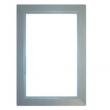 Dekkramme til veggkontakt i sølvfarget plast