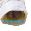 Varmeisolert Fleksibel Alu. kanal - Ø160