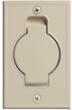 Veggkontakt, hvit metall (8 x 12,5 cm)