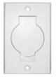 Veggkontakt i hvit plast (8 x 12,5 cm)